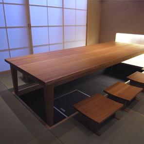 テーブル8人掛け
