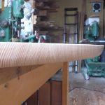 木口曲面削り
