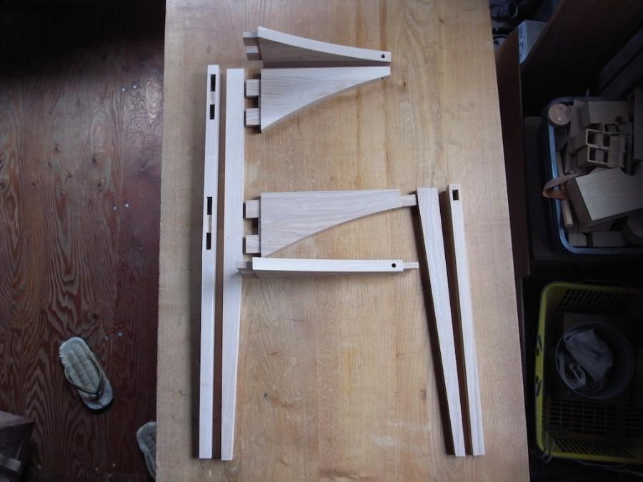 配膳台 木組み
