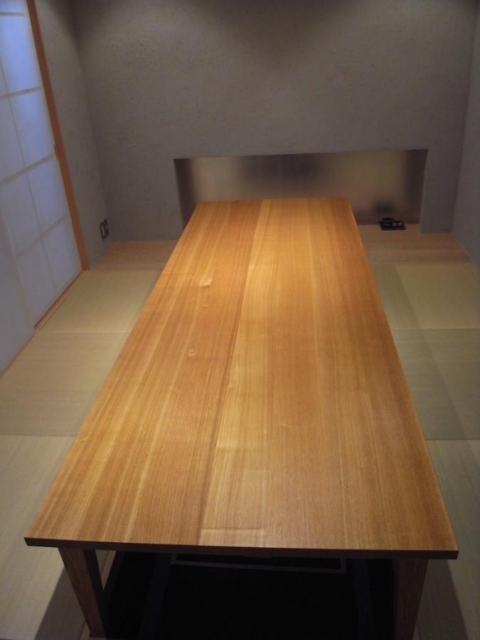 テーブルオイル塗り直し