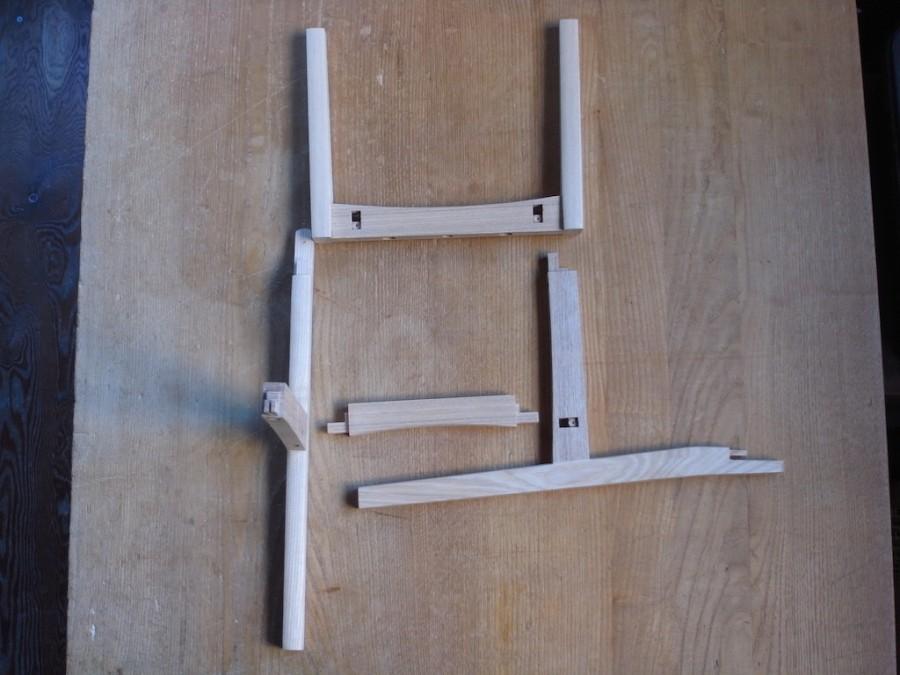 子供椅子 小 木組み