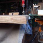 ソファーテーブル 天板削り