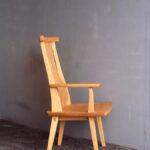 片肘回転椅子 側面