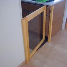 キッチン 枠 扉取り付け