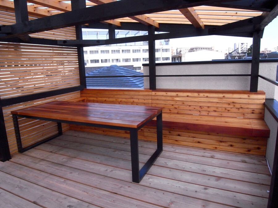 ベンチ テーブル